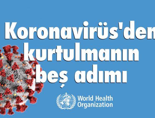 Koronavirüs 'den kurtulmanın beş adımı